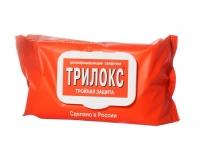 """Салфетки для дезинфекции """"Трилокс"""" пакет с крышкой 120 шт"""