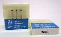 Боры алмазные д/турбин. Dentex (106L)
